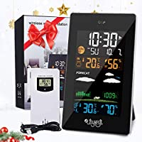 JOYXEON Wireless Weather Station with Outdoor Sensor Digital Hygrometer Thermometer and Humidity Monitor Weather Forecasting/Temperature Display and Alerts with EN/DE/FR Instruction Manual