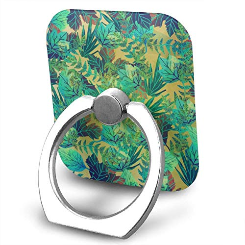 Nicegift Green Tropical Leaf Phone Ring Stand Holder - Cell Phone Ring Holder Finger Grip 360 Degree Rotation