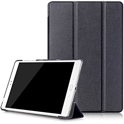 Carcasa Asus ZenPad 3S 10z500m, avidet Smart Case con Stand Case de Protección de poliuretano para Asus ZenPad 3S 10z500m negro
