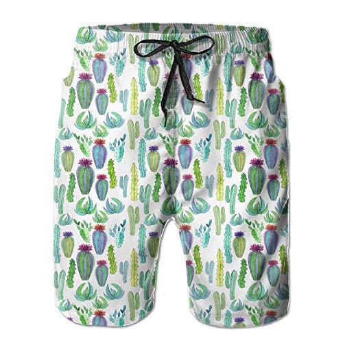 Kling Mexikanische Tropische Männer/Jungen-beiläufige Badehose-Kurze elastische Taillen-Strand-Hosen mit Taschen,M -