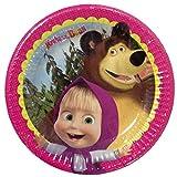 PICCOLI MONELLI Piatti masha e orso compleanno 24 pz