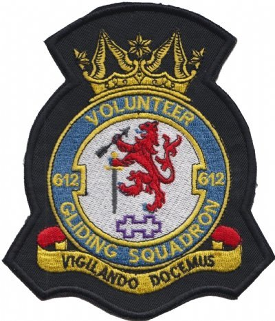 1000 Flags Nr. 612 Freiwilligen gleiten Squadron VGS Royal Air Force RAF Wappen Mod bestickt Patch