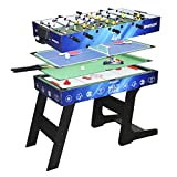 Devessport - Sport Arena - Multijuego 4 en 1 - Futbolín, Billar, Airhockey,...