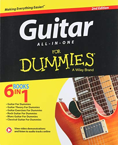 Guitar All-In-One For Dummies: Book + Online Video & Audio Instruction (For Dummies All in One)