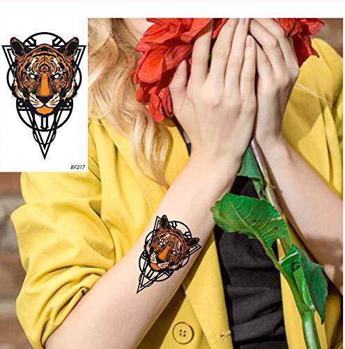 ruofengpuzi Tiger Tier Design Totem Wasserdicht Gefälschte Linie Temporäre Tätowierung Aufkleber Weibliche Arm Tattoo Aufkleber Sommer Stil Tattoo Geist