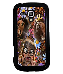 Fuson 2D Printed Funny Faces Designer back case cover for Samsung Galaxy S Duos 2 S7582 - D4284