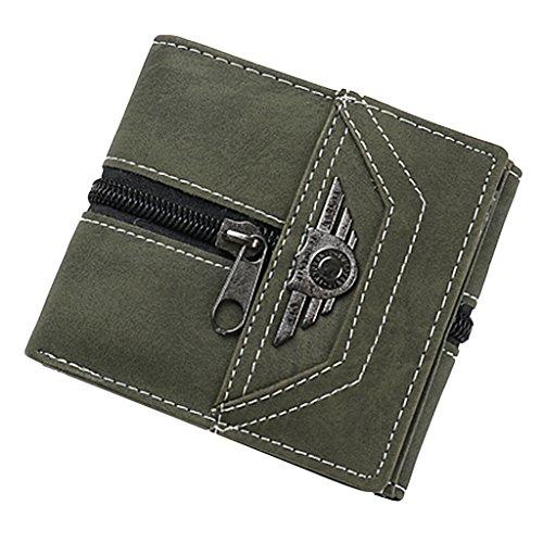 Sharplace Herren Geldbörse Portemonnaie Brieftasche Geldbeutel Kreditkartenetui Kartenetui aus Leinwand Armeegrün