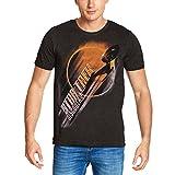 Star Trek T-Shirt des Hommes Gris Eclipse USS Discovery - M