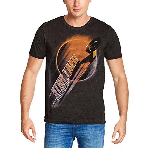 Star Trek para Hombre de la Camiseta Eclipse USS Descubrimiento Gris 4