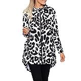 Soupliebe Damen Langarm Leopard Print Reißverschluss Mode Mantel Strickjacke Mit Kapuze Oberteile Jacken Mäntel Sweatjacke Winterjacke Fleecejacke Steppjacke