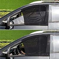 واقيات شمس للنافذة الجانبية الامامية مصنوعة من قماش شبكي يمكن تركيبها على العديد من أنواع السيارت ذات الدفع الرباعي من تايرول، مجموعة من قطعتين