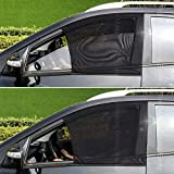 SmartSpec - Tendine Parasole per finestrini Anteriori e Laterali, 2 Pezzi, blocca i Raggi UV, Protezione Universale per Auto, in Tessuto a Rete, per SUV, berline