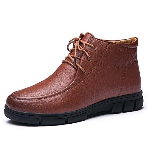 scarpe inverno caldo/Vecchio skid shoes/ accogliente inverno stivali/Allacciatura stivali-B Longitud del pie=22.3CM(8.8Inch)