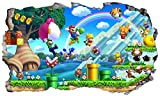 Chicbanners Super Mario Brothers V3013D Wall Crack Aufkleber selbstklebend Poster Wall Art Größe 1000mm breit x 600mm tief (groß)