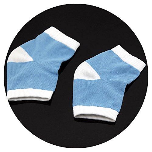 Owfeel 1 paire de chaussettes de talon en gel hydratant pour peau sèche et craquelée Bout ouvert confortable
