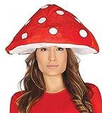 shoperama Fliegenpilz Hut Rot mit weißen Punkten Pilz Mütze Haube Pilzkopf Pilzhut Damen