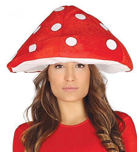 Pilz Fliegenpilz Kostüm - shoperama Fliegenpilz Hut Rot mit weißen Punkten Pilz Mütze Haube Pilzkopf Pilzhut Damen