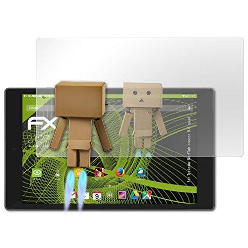 atFolix Bildschirmfolie kompatibel mit Trekstor SurfTab Breeze 9.6 Quad Spiegelfolie, Spiegeleffekt FX Schutzfolie