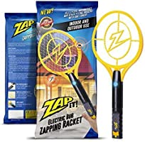 ZAP IT! Bug Zapper - Rechargeable Mosquito, Fly Swatter/Killer and Bug Zapper Racket - 4,000 Volt USB Charging,...