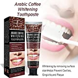 Meiyiu 100ml Coffee Bean Toothpaste Tooth Care Natural Coffee Bean Teeth Whitening Remove Stubborn Teeth Stains Toothpaste Oral Dental 100g