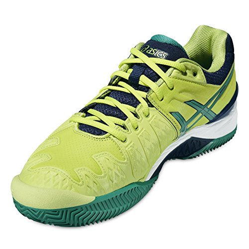 Asics Gel-resolution 6 Clay Herren Tennisschuhe lime-pine-indigo blue