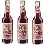12 Flaschen Proviant Schorle Kirsche & Granatapfel naturtrüb a 0,33l Bio inc. 0.96€ MEHRWEG Pfand