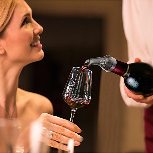 Weinbelüfter und Weinpumpe: Oriware Korkenzieher Stopfen Vacuum Weinbelüfter Weinpumpe Weinzubehör