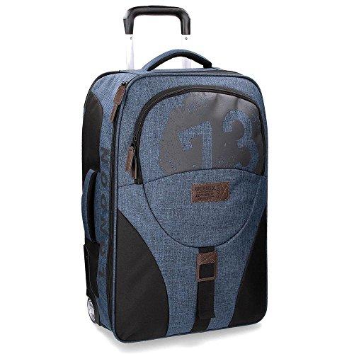 Pepe Jeans Worn 73 Maleta, 51 Litros, Color Azul