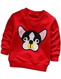 �� Camisetas para 0-3 Años, �� Zolimx Niñas Niños de Manga Larga de Dibujos Animados Perro Tops Suaves Camiseta Sudaderas Bebé Reborn Ropa de Abrigo