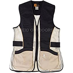Browning Team Lady Ambi Shooting Vest – Negro/Oro/Beige