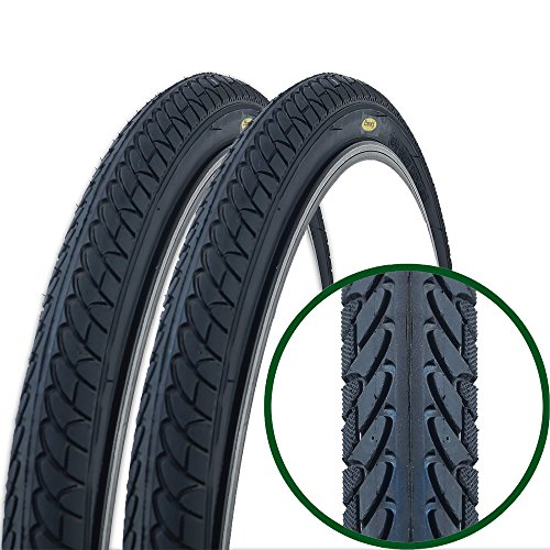 Pair of Fincci Slick Road Mountain Hybrid Bike Bicycle Tyres 26 x 1.95 54-559