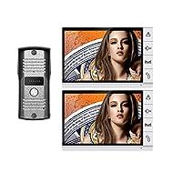 "Amocam 9"" LCD Big Monitor Wired Video Intercom Door Phone Doorbell system 700TVL IR Night Vision Camera DoorPhone Door bell 2-Monitor 1-Camera"