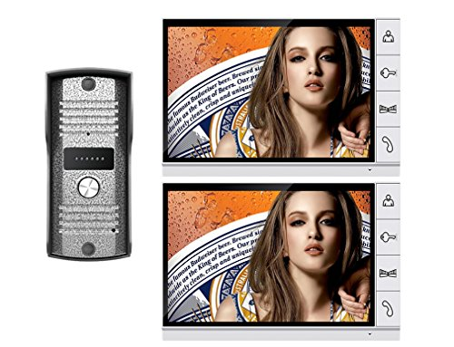 "Amocam 9"" LCD Big Monitor Wired Video Intercom Door Phone Doorbell system 700TVL IR Night Vision Camera DoorPhone Door bell 2-Monitor 1-Camera"
