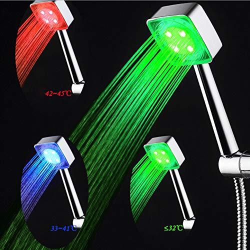 GLHLPR LED-Leuchte für Duschen, 7 Farben, Mehrfarbig, universell passend
