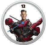 LL Wanduhr Deadpool Design ca. 20 cm Durchmesser mit lautlosem Uhrwerk Unisex Kinderzimmer Büro Arbeitszimmer Motiv 6