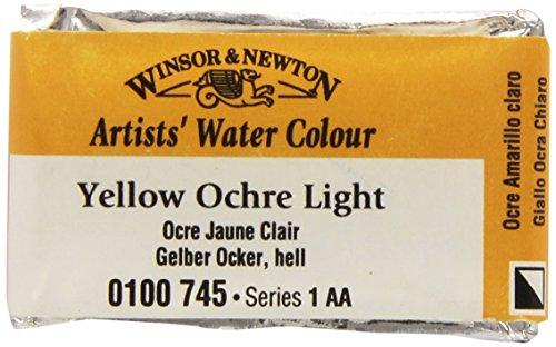 Windsor & Newton artista acquerello Sala pan luce 745 di colore giallo ocra (Importato da Giappone)