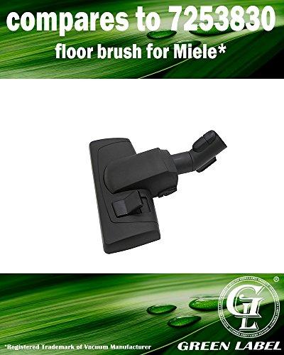 Universal 35 mm Bodendüse für Miele S1/S2/S4/S5/S6/S8 Staubsauger (Vergleichbar mit AllTeQ SBD 285-3, 7253830). Original Green Label Produkt.