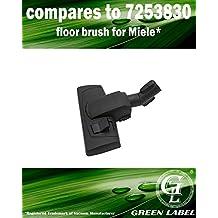 Brosse ajustable pour les aspirateurs Miele S1/S2/S4/S5/S6/S8 35 mm (alternative à AllTeQ SBD 285-3, 7253830). Produit authentique de Green Label