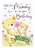 Happy Birthday Grußkarte für Mummy Vers Damen Kinder Cute Bear Mum Markenzeichen