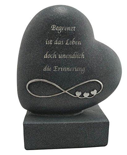 Gedenkherz Unendlichkeit in (Friedhof Dekoration Lichter)