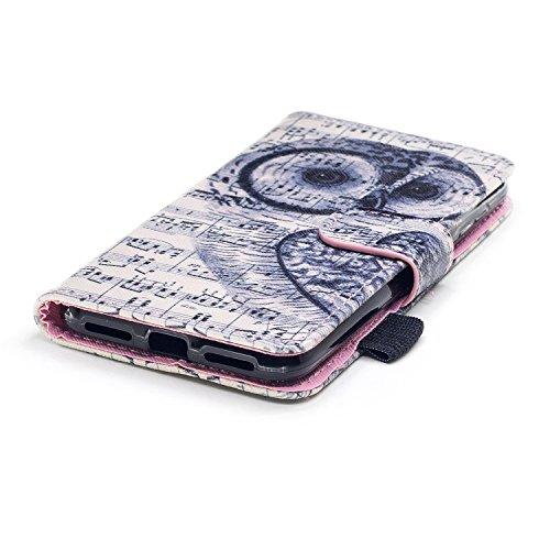 Coque en Cuir pour Huawei Y5 2,Etsue Etui Housse Cuir Folio Portefeuille pour Huawei Y5 2,magnétique cuir PU Wallet Support Feature Flip Protecteur Protection Portefeuille Cas Pochette pour Huawei Y5  Hibou
