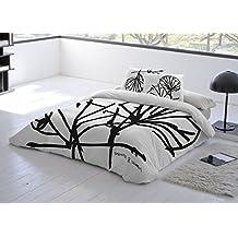 COTTON ART - funda Nordica Modelo ARBOL cama de 90 (150X260cm) + 1 FUNDA DE ALMOHADA (45X110cm) ALGODÓN 100% Disponible para cama de 90 105 135 150 y 180.