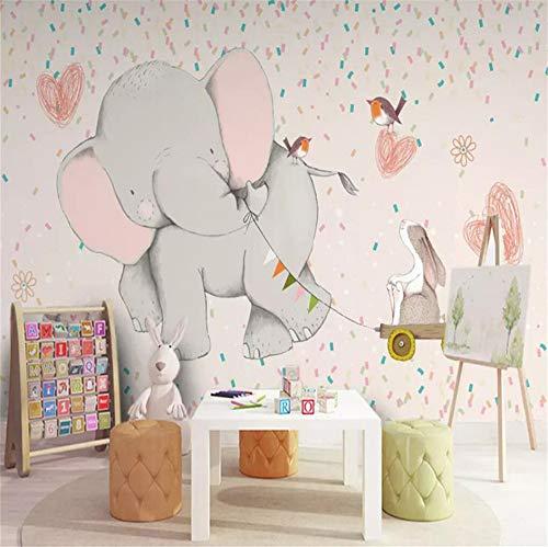 Rureng Fondo De Elefantes Para NiñosMurales DeParedPapel Tapiz Mural Cartel Foto Pared-280X200Cm