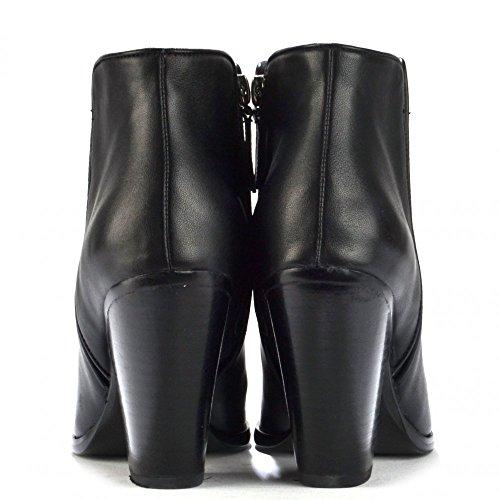 Lola Cruz Ankle Boots, aus Leder, Damen Schwarz