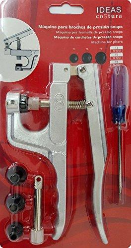Máquina para broches de presión Snaps. Herramienta fácil de usar que le permite instalar cierres de plástico en cuestión de segundos.