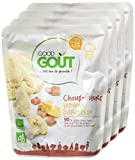 Good Goût - BIO - Choux Fleurs Jambon Parmesan dès 12 Mois 220 g - Lot de 4