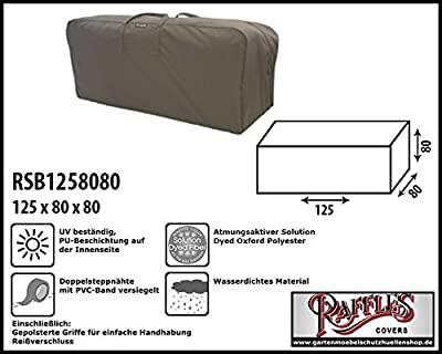 RSB1258080 Kissentasche für Loungemöbelauflagen Aufbewahrungstasche / Cover für Loungekissen, Tragetasche für Gartenmöbel Auflagen, Aufbewahrungstasche für Hochlehnerauflagen von Raffles Covers auf Gartenmöbel von Du und Dein Garten