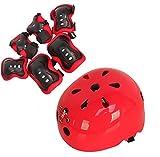 Kinder Sport Skateboard Skate schutzausrüstungen Sicherheit Pad Safeguard (Head Knie Ellenbogen Handgelenk) Support Pad Set Ausrüstung für Kinder Youth (Set von 7 pcs)