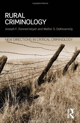 Rural Criminology (New Directions in Critical Criminology) by Joseph F Donnermeyer (2013-09-26)