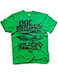 Officiellement Sous Licence Doc Brown Time Travel Agency Hommes T-Shirt (Vert)